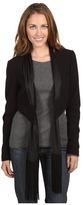 BCBGeneration Scarf Jacket (Black) - Apparel