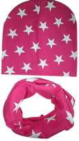 TONSEE 1PC Baby Boys Girls Infant Children Scarf + 1PC Child Caps
