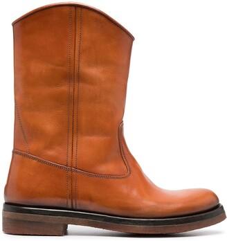 Alberto Fasciani Mid-Calf Leather Boots