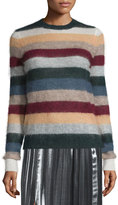 Isabel Marant Cassy Striped Mohair-Blend Sweater, Rust