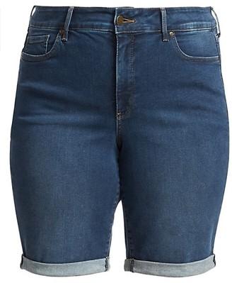NYDJ, Plus Size Briella Roll Cuff Denim Shorts