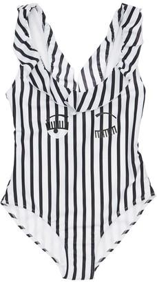 Chiara Ferragni Stripe Print One Piece Swimsuit