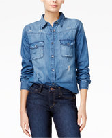 Joe's Jeans Melani Ripped Denim Shirt