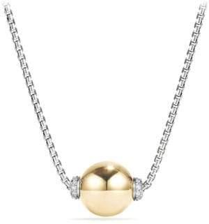 David Yurman Solari Diamond& 18K Gold Pendant Necklace