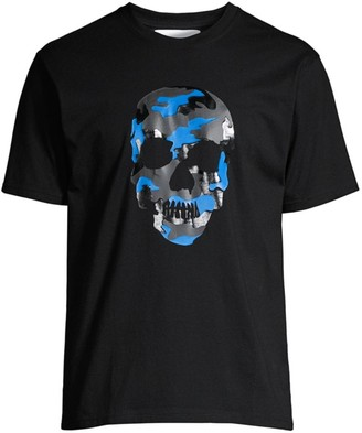 The Kooples Camo Skull Graphic T-Shirt