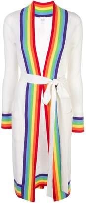 Madeleine Thompson rainbow trim cardigan