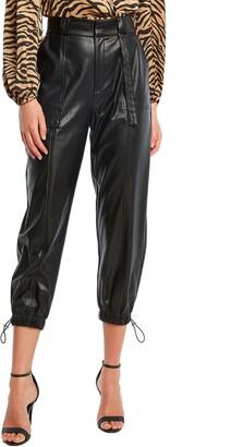 Bardot Faux Leather Cargo Pants