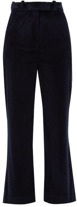 Hillier Bartley Flared Cotton-corduroy Trousers - Womens - Navy