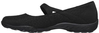 Skechers Breathe-easy Ballerina Shoe - Black