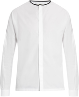 Balenciaga Round-neck cotton-poplin shirt