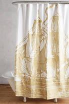 Thomas Paul Golden Ship Shower Curtain