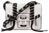 Proenza Schouler Hava Leather Chain Crossbody Bag, White/Black