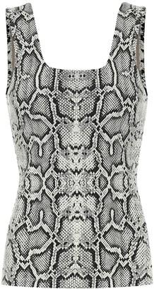 Varley Aletta snake-print tank top