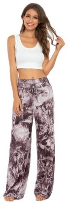 Lilly Posh Animal, Tie Dye & Plaid Print Lounge Pants regular and Plus Sizes