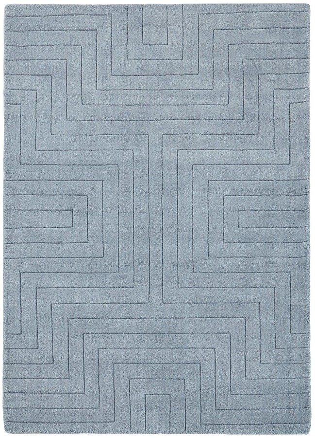 Very Carved Maze Wool Rug