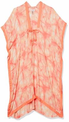 Calvin Klein Women's Dye Swim 100% Viscose Cover Up with Adjustable Tie