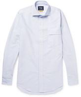 Drakes Drake's - Easyday Striped Cotton Oxford Shirt - Blue