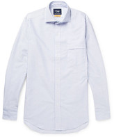 Drakes Drake's - Easyday Striped Cotton Oxford Shirt