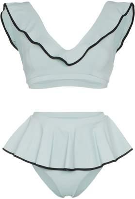 Marysia Swim Piana high-waisted ruffle detail bikini set