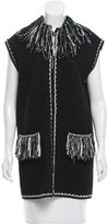 Chanel Textured Fringe-Trimmed Cardigan w/ Tags