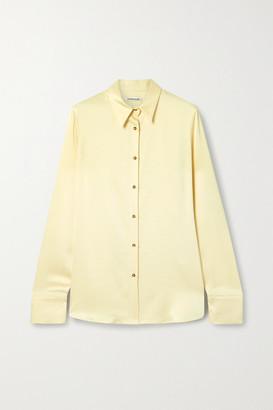 Georgia Alice Satin Shirt - Cream