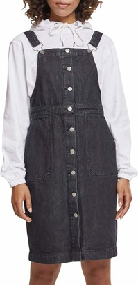 Urban Classics Women's Ladies Denim Dungarees Dress Skirt