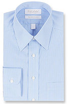 Roundtree & Yorke Gold Label Non-Iron Fitted Classic-Fit Point Collar Checked Dress Shirt