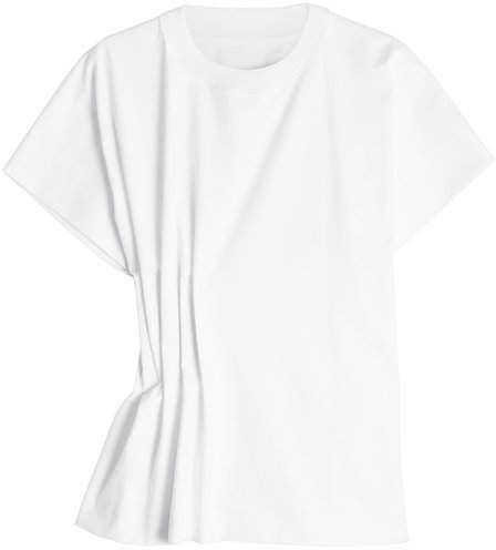 Maison Margiela Cotton T-Shirt with Gathered Side