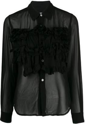 Comme des Garcons ruffle detail blouse