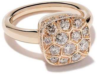 Pomellato 18kt rose & white gold Nudo diamond ring