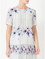 John Lewis Elsie Silk Pencil Placement T-Shirt, Multi