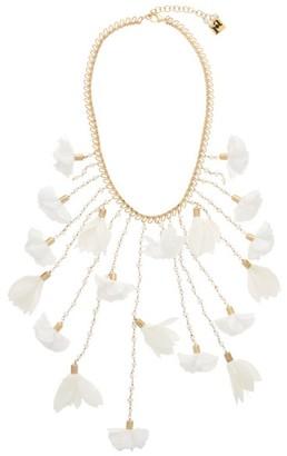 Rosantica Sentiero Pearl And Flower Chain Necklace - White