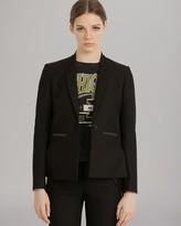 Maje Blazer - Leather Pocket