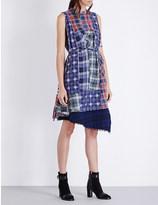 Miharayasuhiro Checked patchwork cotton dress