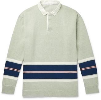 Nanamica Rugger Striped Coolmax Cotton-Blend Jersey Polo Shirt