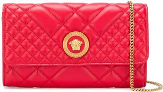 Versace quilted chain wallet bag