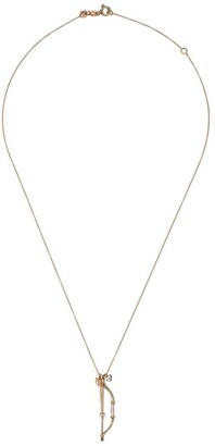 Kismet By Milka 14kt Rose Gold Diamond Bow And Arrow Necklace
