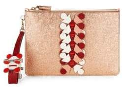Anya Hindmarch Embellished Metallic Pouch