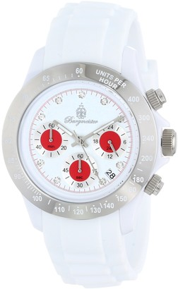 Burgmeister BM514-586C Florida Ladies watch Analogue display Chronograph with Seiko Movement - Water resistant Sporty and trendy silicone strap Fashionable women's watch