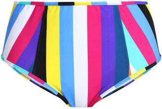 Diane von Furstenberg Striped High-rise Bikini Briefs