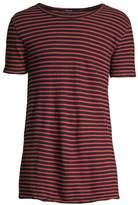 Ksubi Opposite of Opposite Sinister Stripe Linen-Blend Tee