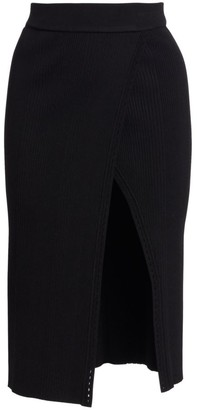 Jonathan Simkhai Eyelet Detail Ribbed Pencil Skirt