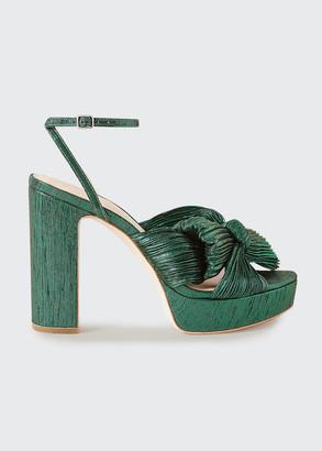 Loeffler Randall Natalia Pleated Knot Platform Sandals