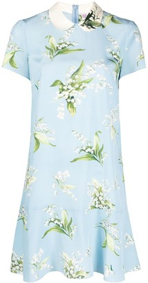 RED Valentino May Lily-print silk dress