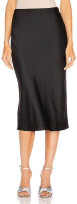 Alexander Wang Light Wash & Go Mid Skirt in Black | FWRD