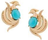 Susan Caplan Vintage 1960s 18kt Gold Plated Brass Avon Bird Earrings
