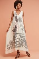 Anthropologie Sheena Embroidered Maxi Dress, Ivory
