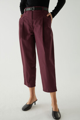 Cos Cropped Cotton Trousers