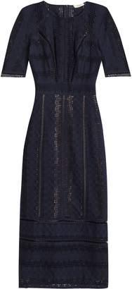 BA&SH Crochet-trimmed Embroidered Cotton Midi Dress
