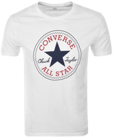 Converse Logo Crew Neck T Shirt White